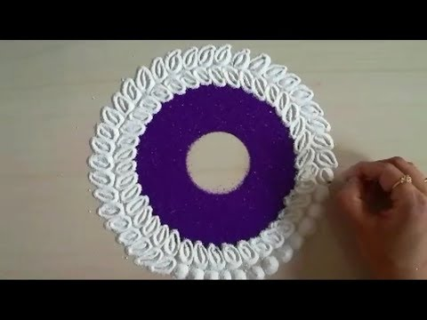 How to make creative and colourful rangoli design | easy rangoli by Yogita Garud