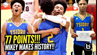 Download Mikey Williams Scores 77 POINTS!!! BREAKS CALIFORNIA RECORD & Makes HISTORY!! Youngest PLAYER EVER! Video