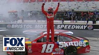 Download Kyle Busch holds off Kyle Larson for second straight win   2018 BRISTOL   FOX NASCAR Video