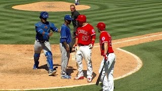 Download KC@LAA: Benches clear after Pujols' RBI double Video