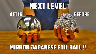 Download Casting Mirror Polished Japanese Foil Ball from Molten Aluminium Video