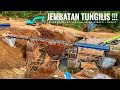 Download Wihhh Kerennn !Jembatan Tungilis Langsung Pasang Rangka Jembatan Baru. Video