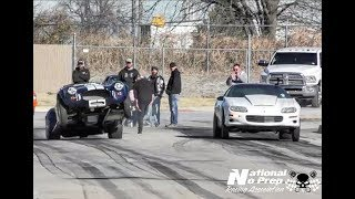 Download Shelby Cobra wheel stang vs nitrous Camaro at Tricky D Garcias thanksgiving shakedown Video