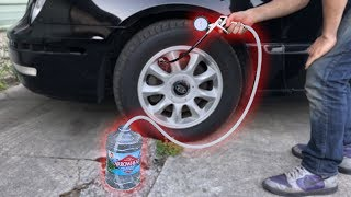 Download Filling a CAR TIRE with WATER! Video