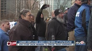 Download Carrier employees voice concerns at Statehouse Video