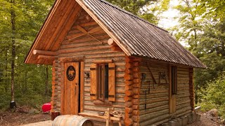 Download Log Cabin TIMELAPSE Built By ONE MAN In The Forest Video
