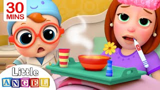 Download Mommy Got Sick | Sick Song | Little Angel Kids Songs & Nursery Rhymes Video