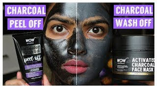 Download Charcoal Peel off Vs Charcoal Wash off Mask || Face off time 💢🚫 Video