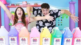 Download GIANT 3 COLORS OF GLUE SLIME CHALLENGE GALLON SIZE ~ Slimeatory #409 Video