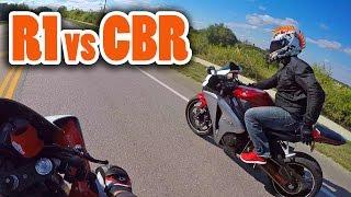 Download Yamaha R1 vs Honda CBR1000RR - 150mph+ (w/ DoItWithDan) Video