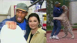 Download A Look Back: Mike Tyson Wrestles His Tiger at Mansion for Roseanne Barr Video