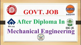 Download GOVT Jobs after Mechanical Engineering Video