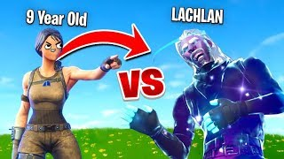 Download So a 9 Year Old Challenged me to a 1v1 In Fortnite... Video