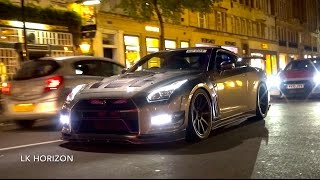 Download 10,000HP Worth of Nissan GTR R35's Invade London! Video