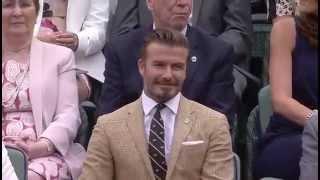 Download Beckham among sporting legends in Royal Box - Wimbledon 2014 Video