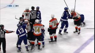 Download Simmonds catches unsuspecting Brown with hit to the head Video