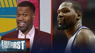 Download Stephen Jackson on why Warriors will vanquish Rockets to win the West | NBA | FIRST THINGS FIRST Video