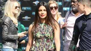Download Priyanka Chopra Stunning In Floral Mini While Greeting Fans After EXTRA Appearance Video