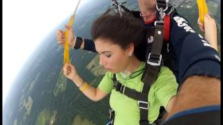 Download First time SKYDIVING! Video