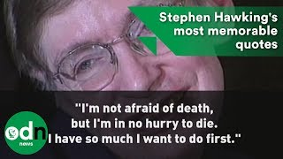 Download Stephen Hawking's most memorable quotes Video