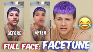 Download FULL FACE Using FACETUNE Makeup | Gabriel Zamora Video