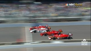 Download 2013 Firestone Indy Lights Close Finish! Freedom 100 4 Wide Finish Video