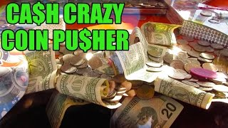 Download COIN PUSHER FILLED W/CASH MONEY! CARNIVAL GAME | FAIR FUN | BATTLE ARCADE Video