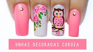 Download Unhas Decoradas Coruja - owl nail art - Aline Makelyne Video
