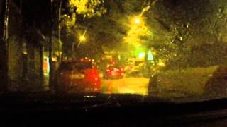 Download Rain sounds for sleeping. Rain in a car with lightning and thunder storm - Sleep Music Video