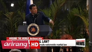 Download Philippine's Duterte eyes nationwide martial law Video