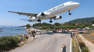 Download SKIATHOS 2018 - LOW LANDINGS and JETBLASTS vs. PEOPLE - Airbus A321, Boeing 717 ... Video