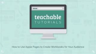 Download How to Use Apple Pages to Create Editable Workbooks for Your Business or Online Course Video