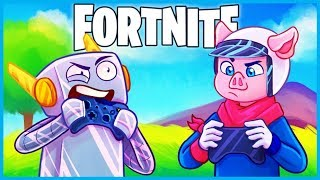 Download 2 PC PROS use a *CONTROLLER* in Fortnite: Battle Royale! (Fortnite Funny Moments & Fails) Video