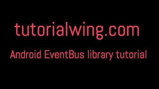 Download tutorialwing event bus library tutorial output Video