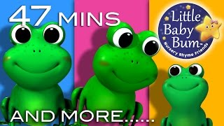 Download Five Little Speckled Frogs | Plus Lots More Nursery Rhymes | 47 Mins Compilation from LittleBabyBum Video