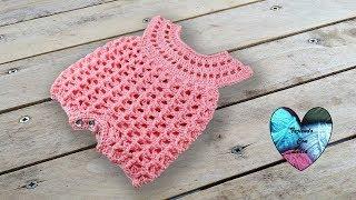 Download Enterizo body bebé tejido a crochet Teje con Lidia ! Video