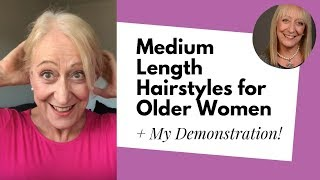 Download Fabulous Hairstyles for Older Women with Medium Length Hair Demonstration Video