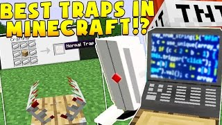 Download THE BEST TRAPS IN MINECRAFT SECURITY MODDED CHALLENGE! | Minecraft Mod Minigame Video