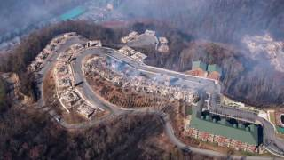 Download The aftermath of the Gatlinburg wildfires seen from the air Video