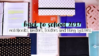 Download Back to School 2017 #5 // Notebooks, Binders, Folders and Filing Systems Video