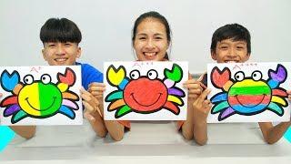 Download Rainbow Crab Warna Warni Belajar Menggambar dan Mewarnai untuk Anak Video