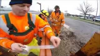 Download Fiber optic cable deployment along railroad Video