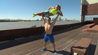 Download How This Extremely Fit Couple Workout Using The Outdoors Instead Of The Gym Video
