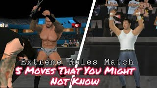 Download 5 Moves That You Might Not Know In SVR11 Extreme Rules Match | BK WWE Video