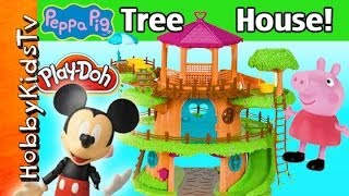 Download Peppa, Mickey Mouse Woodzeez TreeHouse! Play-Doh Mud, George Pig HobbyKidsTV Video