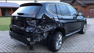 Download BMW X3. Body repair. Ремонт кузова. Video