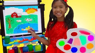 Download Wendy and Alex Pretend Play with Drawing with Kids Painting Toys Video