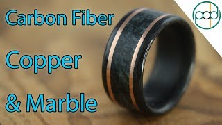 Download Making a Carbon Fiber, Marble, and Copper Wedding Ring! Video