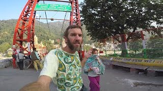Download Rishikesh, India: Tour From My Hotel to the Laxman Jhula Bridge Video