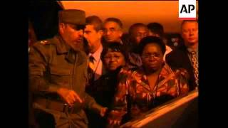 Download Fidel Castro and Yasser Arafat arrive for UN Racism conference Video